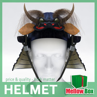 3d samurai helmet model