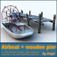 Airboat + wooden pier collection