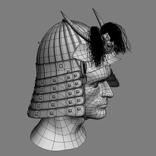 3d samurai helmet model - Samurai Helmet... by mellow box