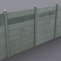 concrete panel coz080301116 3d model