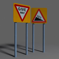 3d road sign coz090824100