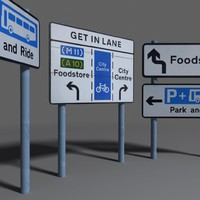 3d model road sign coz110113675