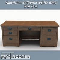 3d model of executive office desk