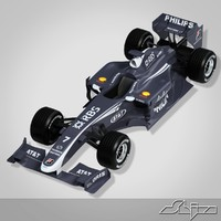 3d williams toyota formula car
