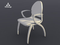 Dublin 4-leg chair with armrests. Seat and backrest upholstered