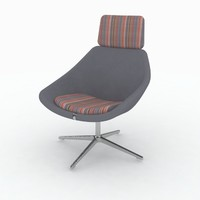 3d model of allemuir open chair 641