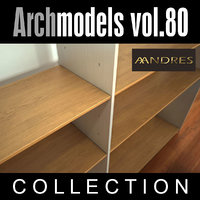 3d archmodels 80 shelf vol model