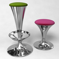 3d bar stool set