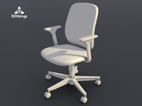 Concept One Swivel chair with 3D adjustable armrests