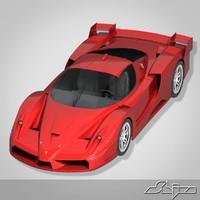 3d model ferari car fx