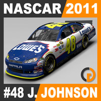3d nascar 2011 jimmie johnson model
