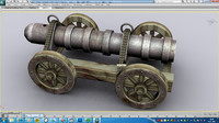 3ds max ming dynasty chinese cannon