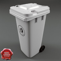 3d model plastic garbage bin