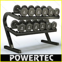 powertec wb-dr10 dumbbell rack 3d model