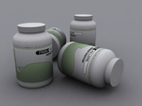 3d model painkiller ready