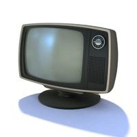 retro tv 10 3d model