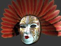 venetian mask 3d model