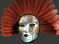 Venetian Carnival Mask 07