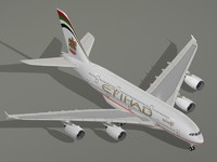 3d airbus a380-800 etihad airways model