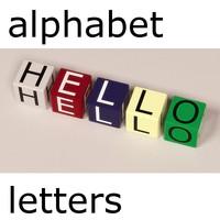 boxes alphabet letters 3d model