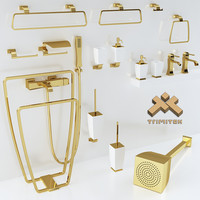 3d model bathroom accessories gessi mimi
