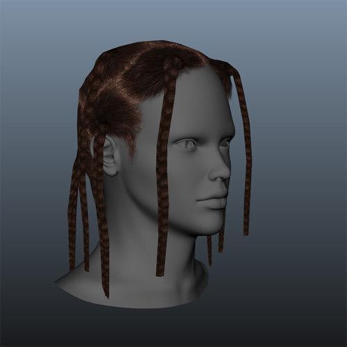 braided female hair style
