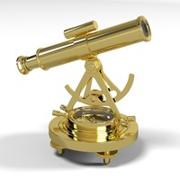 brass alidade compass scope science decorative  telescope home decor accessory  magnetic