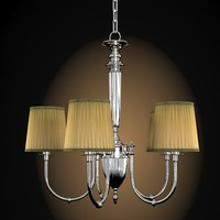 classic chandelier chrome 3d 3ds