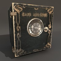antique safe 3d obj