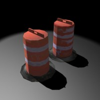 construction barrels 3d model