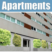 apartments building 3d 3ds