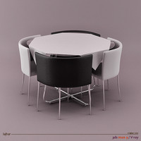 lwo architectural visualization chairs table
