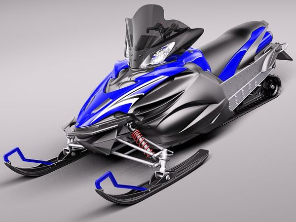 maya yamaha apex snowmobile snowbike - Yamaha Apex Snowmobile 2011... by squir