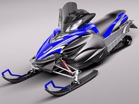 3d model yamaha apex snowmobile snowbike