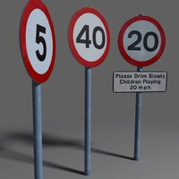 3d model speed limit coz110101394