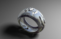 3d model of modeled ring jewellery