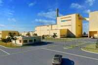 industrial plant factory c4d