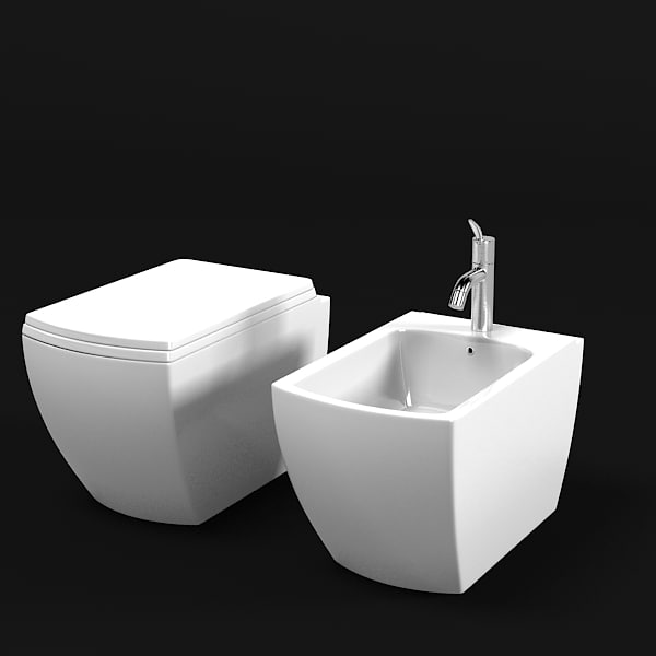 Agape cer750w modern 3d max - Wc model ...