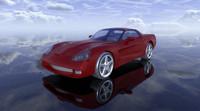 3dsmax chevrolet corvette c6