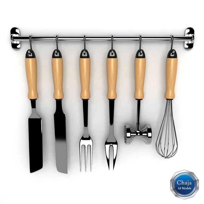 Kit Kitchen Tools 3d Model