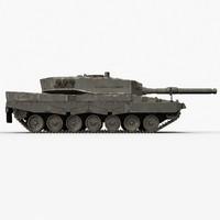 3d main leopard 2a4 model