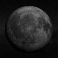 3d model moon realistic landing