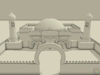 highpoly mosque building 3d model