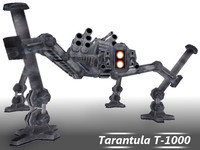 real-time mech walker tarantula 3d model