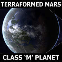 3ds max mars planet terraformed class