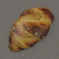 paskalya sweet bread 3d obj