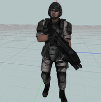 modern solider trooper 20 3d model