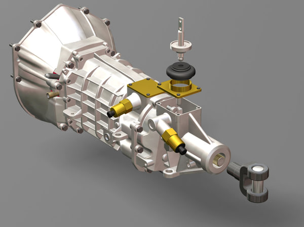 transmission manual t56 gm 3d model - Transmission Manual 6spd T56 gm s... by iw43d