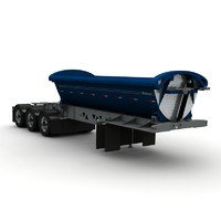 dump trailer tw3500 midland 3d model