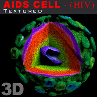 AIDS cell (HIV) textured